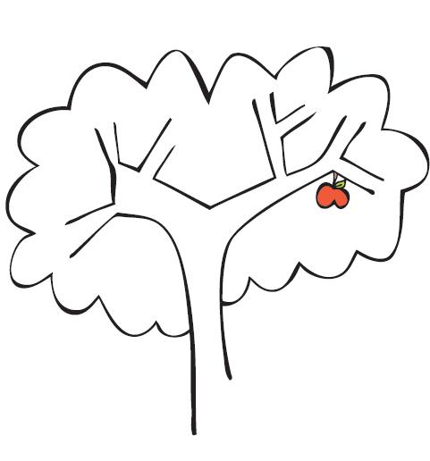 cartoon trees and flowers. Plant a tree, make recycled